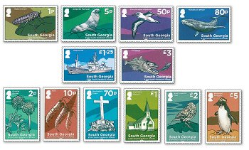 Journey through South Georgia - 12 stamps, Mint never hinged, South Georgia