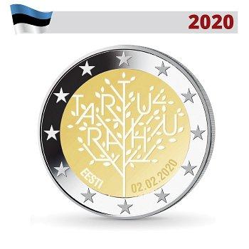 100 Jahre Frieden von Tartu, 2 Euro Münze 2020, Estland