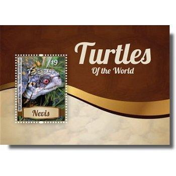 Schildkröten - Briefmarken-Block postfrisch, Nevis