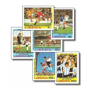 """Fußball-Weltmeisterschaft 1978, Argentinien """"Spielszenen"""" – Briefmarken postfrisch, ungezä"""