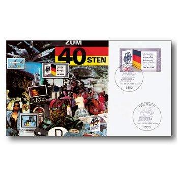 40 Jahre Bundesrepublik Deutschland - Maximumkarte gestempelt mit Musik, Deutschland