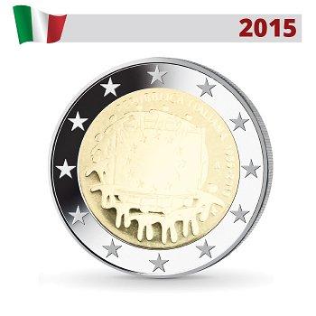 30 Jahre Europaflagge, 2 Euro Münze 2015, Italien