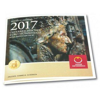 500 Jahre Friedrichsgrab, Kursmünzensatz 2017 Stempelglanz, Österreich