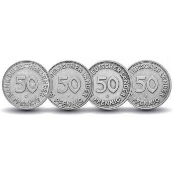 50 Pfennig Münze 1949 Bank Deutscher Länder, Komplettsatz, Deutschland