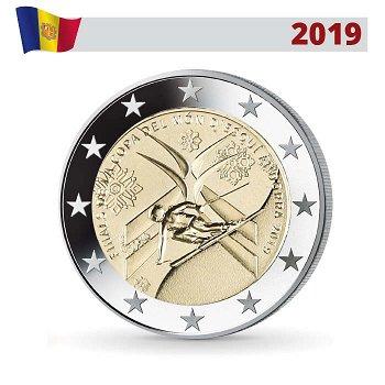Ski Alpin Weltcup Finale, 2 Euro Gedenkmünze 2019, Andorra