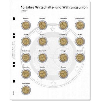 """Lindner Vordruckblatt für 2 Euro-Gedenkmünzen: Gemeinschaftsausgabe """"10 Jahre WWU"""", LI MU2"""