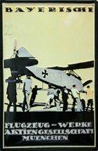 Blechschild:Bayerische Flugzeug-Werke Aktiengesellschaft(20 x 30 cm)