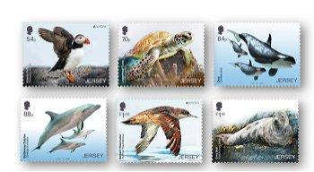 Europa 2021: Gefährdete nationale Tierwelt - 6 Briefmarken postfrisch, Jersey