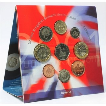Kursmünzensatz 2001 Stempelglanz, Großbritannien