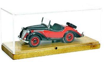 Modellauto:Ford Eifel Roadster von 1937, rot/schwarz(Tin Wizard, 1:43)
