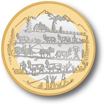 Der Alpabzug, 10 Franken Münze 2015 Schweiz, Stempelglanz