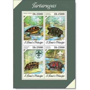 Schildkröten II - Briefmarken-Block postfrisch, St. Thomas