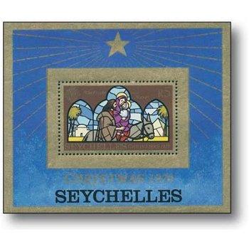 Weihnachten 1979 - Briefmarken-Block postfrisch, Seychellen