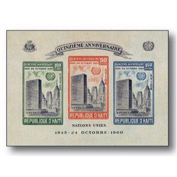 15 years UN - block edition mint never hinged, Haiti