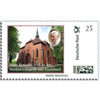 Papst Benedikt XVI. in Etzelsbach - Marke Individuell postfrisch