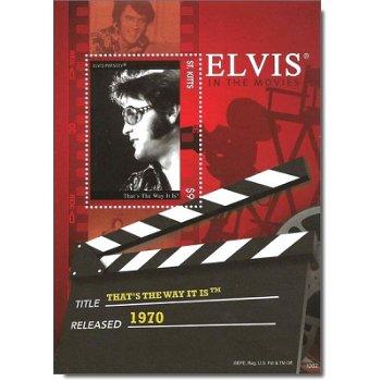 "Elvis Presley ""That's the way it is"" - Briefmarken-Block postfrisch, St. Kitts"