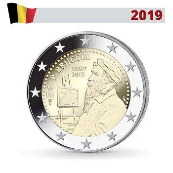 450. Todestag von Pieter Bruegel dem Älteren, 2 Euro Münze 2019 in Coincard, Belgien