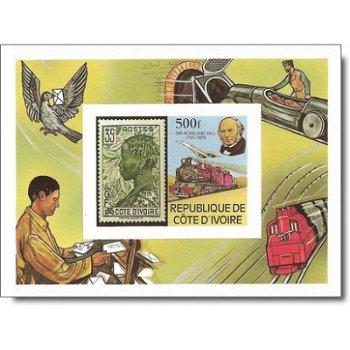 100. Todestag von Sir Rowland Hill - Briefmarken-Block ungezähnt postfrisch, Katalog-Nr. 611 Bl. 14