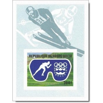 Olympische Winterspiele 1976, Innsbruck – Briefmarken-Block postfrisch, ungezähnt, Katalog-Nr. 608,