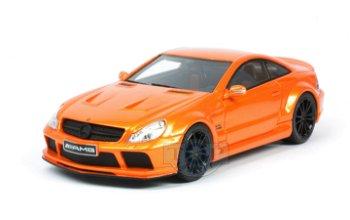 Modellauto:Mercedes-Benz SL 65 AMG- Black Series - , orange(Schuco, 1:43)