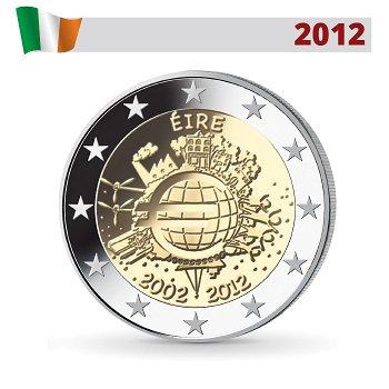 10 Jahre Euro - Gemeinschaftsausgabe, 2 Euro Münze 2012, Irland