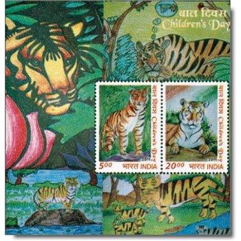 """Tag des Kindes """"Tiger"""" - Briefmarken-Block postfrisch, Indien"""