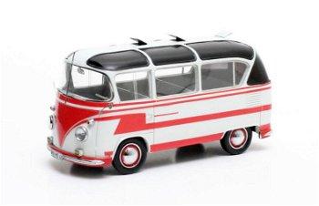 Modellauto:VW T1 - Auwärter Carlux - , rot-weiß(Matrix, 1:43)