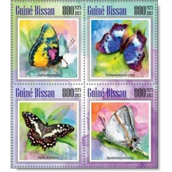 Schmetterlinge - 4 Briefmarken postfrisch, Guinea-Bissau