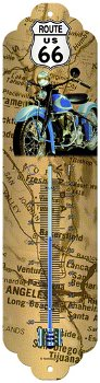 Thermometer:Route 66 - Map -(Nostalgic Art)