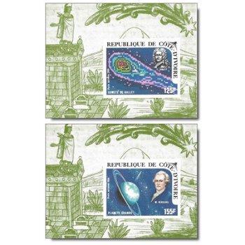 Halleyscher Komet - 5 Luxusblocks postfrisch, Katalog-Nr. 888B-892B, Elfenbeinküste