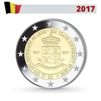 200 Jahre Universität von Lüttich, 2 Euro Münze 2017, Belgien