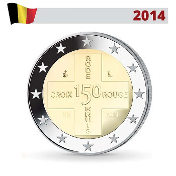 150 Jahre Rotes Kreuz, 2 Euro Münze 2014, Belgien