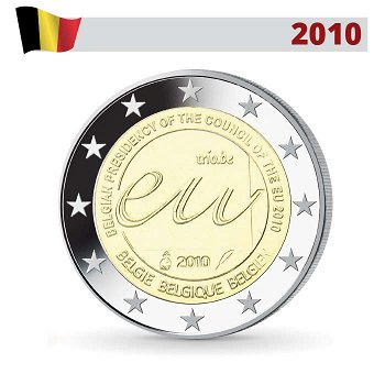 EU-Ratspräsidentschaft, 2 Euro Münze 2010, Belgien