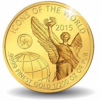 Icons of the world: Libertad, die römische Siegesgöttin Victoria, Goldmünze 2015, Ruanda