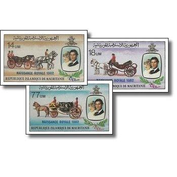 """Geburt von Prinz William """"Aufdruck"""" - 3 Briefmarken ungezähnt postfrisch, Katalog-Nr. 764-"""