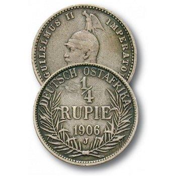 Wilhelm II., 1/4 Rupie Münze, Deutsch-Ostafrika