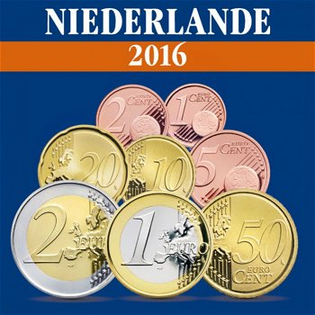 Niederlande - Kursmünzensatz 2016