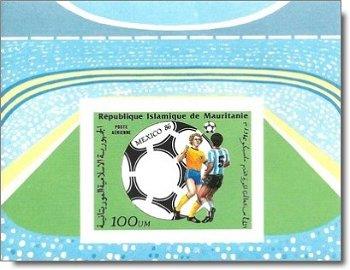Fußball-Weltmeisterschaft 1986, Mexiko - Briefmarken-Block ungezähnt postfrisch, Katalog-Nr. 881 Bl.