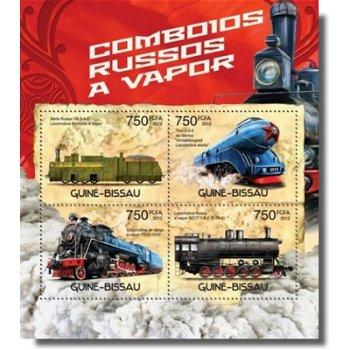 Lokomotiven - Briefmarken-Block postfrisch, Katalog-Nr. 6121-6124, Guinea-Bissau