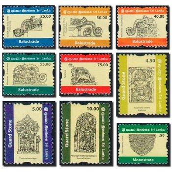 Freimarken: Ornamente - 16 Briefmarken postfrisch, Sri Lanka