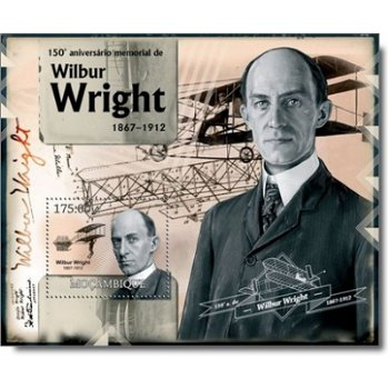 150. Todestag von Wilbur Wright (richtig wäre 100. Todestag) - Briefmarken-Block postfrisch, Mocambi