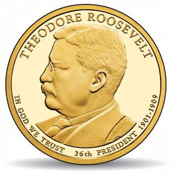 Theodore Roosevelt, Präsidentendollar 2013, USA