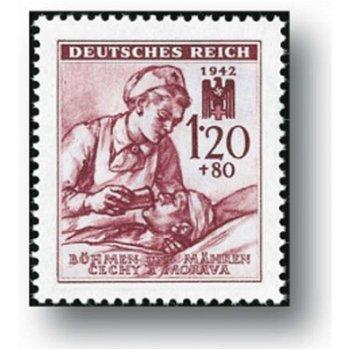 Rotes Kreuz - 2 Briefmarken postfrisch, Katalog-Nr. 111 - 112, Böhmen und Mähren
