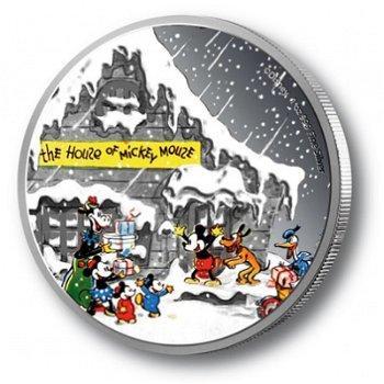 Fröhliche Weihnachten: Mickey und seine Freunde, Silbermünze Niue