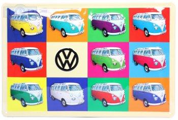 Blechschild:VW T1 Bully Collage(30 x 20 cm)