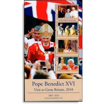 Papst Benedikt XVI. besucht Großbritannien - Briefmarken-Block postfrisch, Guyana