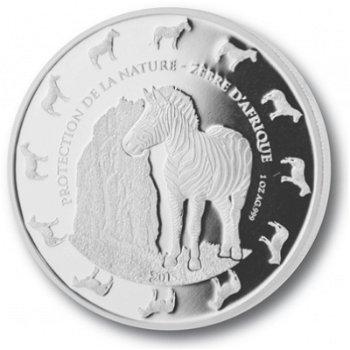 Zebras, Silbermünze Benin