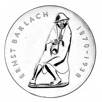 5-Mark-Münze 1988, 50. Todestag Ernst Barlach, DDR