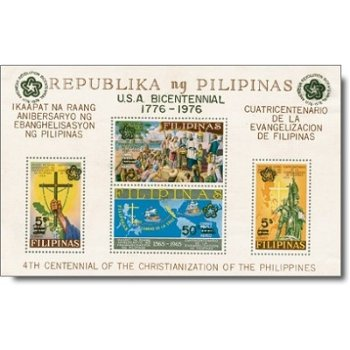 200 Jahre Unabhängigkeit der USA - Briefmarken-Block postfrisch, Philippinen