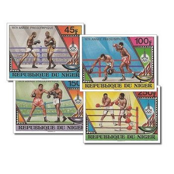 Vorolympisches Jahr - 4 Briefmarken ungezähnt postfrisch, Katalog-Nr. 673-676, Niger